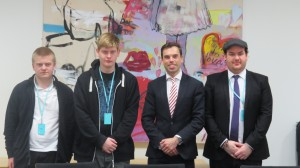 Minister Ken Skates meets Champions from Ashgrove School and Vale of Glamorgan Youth Service
