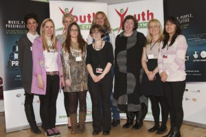 Youth Cymru team for The Big Music Event in Wales