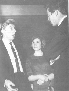 Roger Kingdom (Chairman) and Ann-Calvin-Thomas (Secretary) of the South Wales Members' Council in conversation with the President, Lord Snowdon.