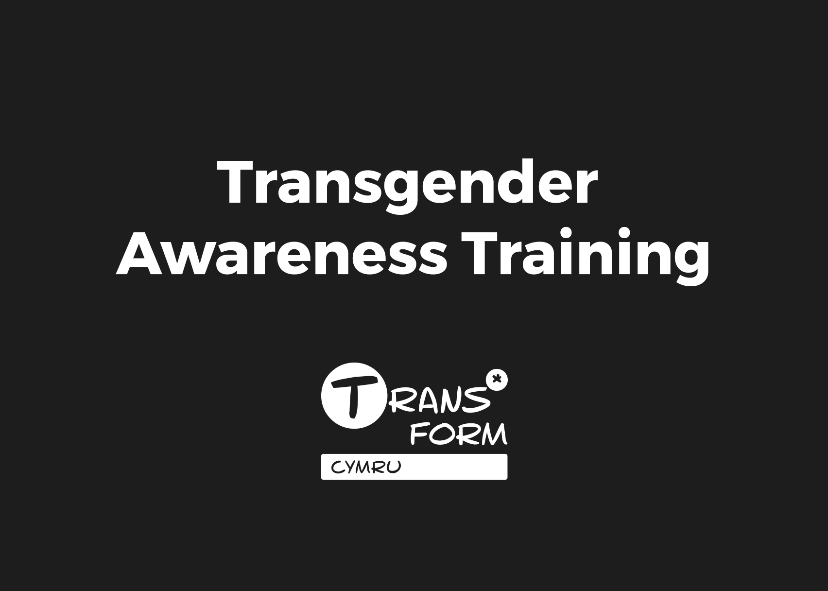 Free Transgender Awareness training