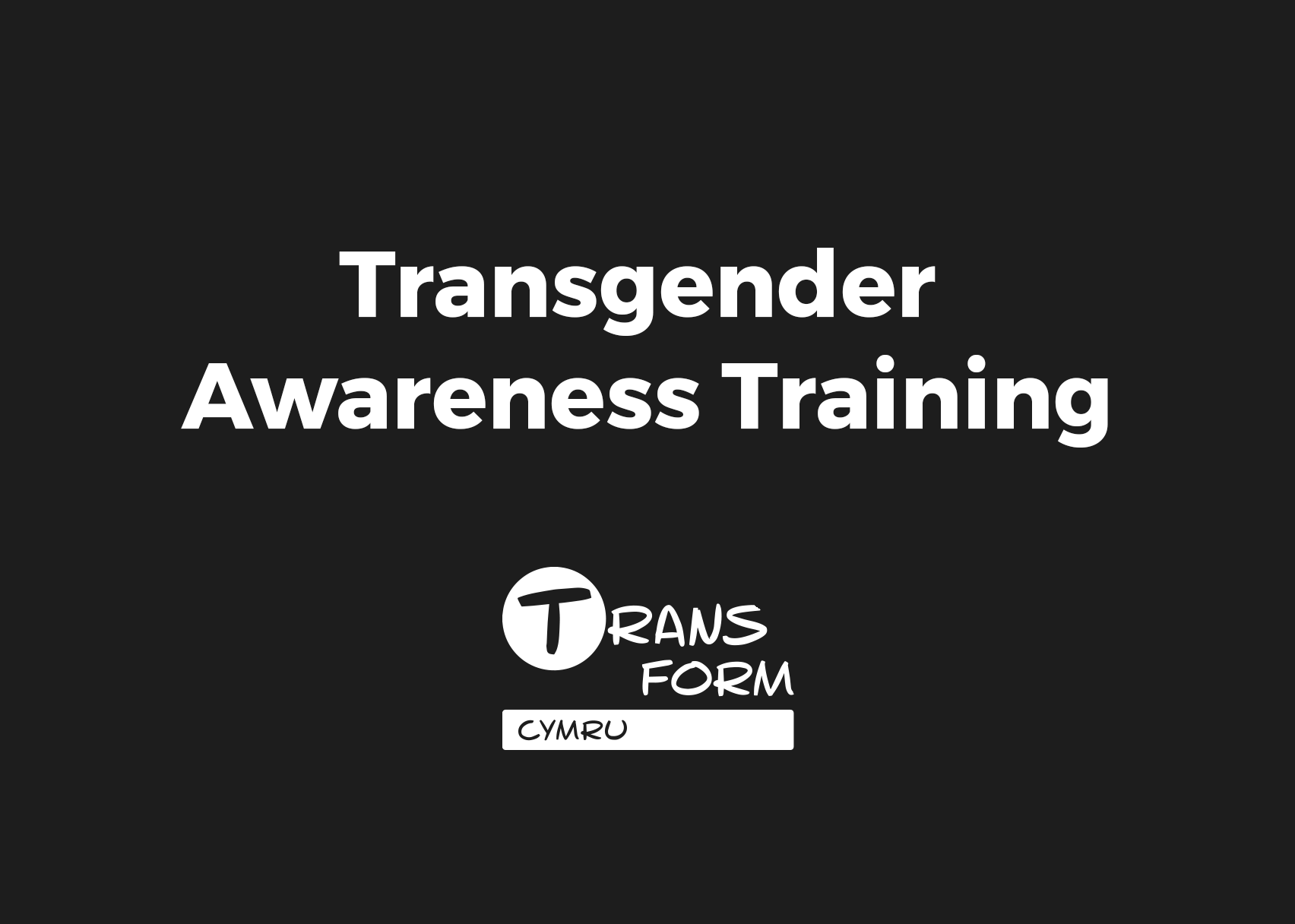 Transgender Awareness Training